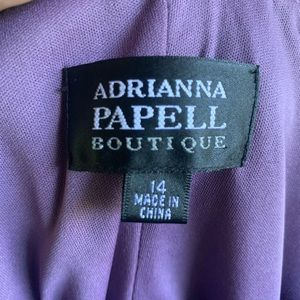 Adrianna Papell Dresses - Adrianna Papell Violet Cocktail Dress 14 EUC
